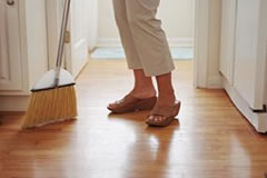 Sweeping your hardwood floor